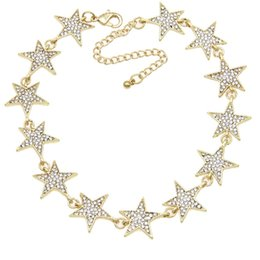 $enCountryForm.capitalKeyWord Canada - Rhinestone Star Collar Chokers Necklace Statement Jewelry luxury Maxi Necklaces For Women Torques Bijoux Femme N4183