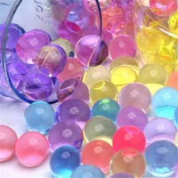 Magic Crystal Balls Canada - High quality 1bag 5-10mm Pearl Shaped Crystal Soil Water Beads Mud Grow Magic Balls Home Decor Soil