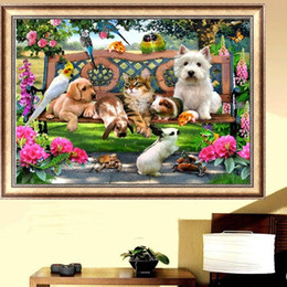 $enCountryForm.capitalKeyWord Canada - DIY Diamond Painting Embroidery 5D Animal Dog Cat Cross Stitch Crystal Square Home Bedroom Wall Art Decoration Decor Craft Gift