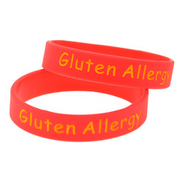 China Wholesale 100PCS Lot Gluten Allergy Silicone Wristband Rubber Bracelet For Kids Great to Used In School Or Outdoor Activities supplier rubber wristbands for kids suppliers