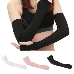 Summer Women Sun Gloves Thin Long Half Finger Uv Sleeve Cotton Bike Driving Arm Sleeve Wholesale Durable In Use Women's Accessories Women's Arm Warmers