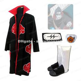 $enCountryForm.capitalKeyWord NZ - Naruto Akatsuki Hoshigaki Kisame Cosplay Costume Cloak Headband Ring Shoes