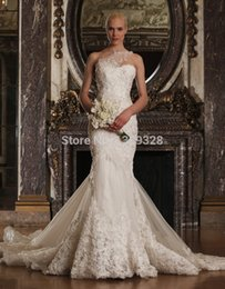 Sweetheart Nuptiale Une Épaule Pas Cher-Ivory Lace robe de noiva Sweetheart One Shoulder Zipper Mermaid Robe de mariée 2017 Nouvelle robe de mariée Summer Style