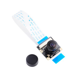 Discount raspberry pi cameras Freeshipping Raspberry Pi Night Vision Camera Module Board 5MP 160 Wide Angle Fish Eye Surveillance Lenses