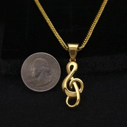 Musical gold pendant online gold musical note pendant for sale mens stainless steel hip hop rock rapper musical note pendant necklace for men girl women jewelry mozeypictures Images