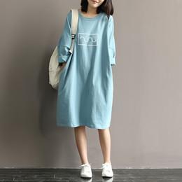 $enCountryForm.capitalKeyWord Canada - 2017 new spring and autumn women short sleeve vintage knitting cotton dresses japanese mori girl cotton plus size woman clothing