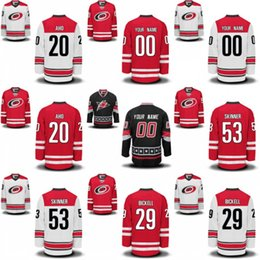 7f980998b Carolina Hurricanes 5 Noah Hanifin 29 Bryan Bickell 30 Cam Ward 53 Jeff  Skinner Hockey Jerseys Name and Number Stitched Embroidery Logos