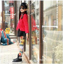 $enCountryForm.capitalKeyWord Canada - 8 Color Fashion Spring Autumn baby girls print leggings tights pants Soft Milk Silk Children Leggings Kids Skinny slim pencil trousers pant