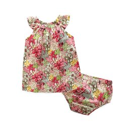 China Girls Dresses with Briefs Rose Floral Ruffle Sundress Infant Toddler Kids Dress Girls Summer Dresses Outfits Casual Children Clothing 6M-10T supplier sundress girls red cotton suppliers