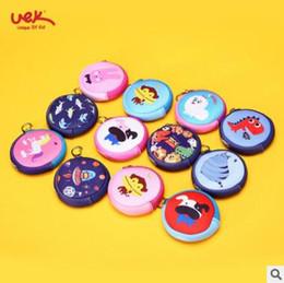 Discount dog rabbits - Round Kids Coin Purse Cute Cartoon Boy Waterproof Money Bag Children Small Wallet Neoprene Kids Animal Pattern Soft Purs