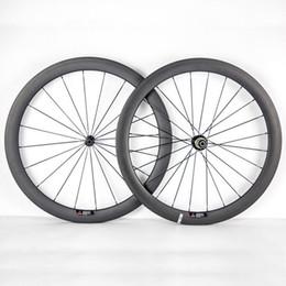24 bicycle wheelset 2019 - 700C 50mm Depth 23mm Width Full Carbon Bike Wheels Clincher Tubular Bicycle Wheelset With Powerway R36 Hubs Black 20 24