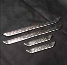 Door sill plate for nissan online shopping - Car accessories Stainless External Door Sill Scuff Plate for Nissan X Trail X Trail Welcome Pedal Threshold