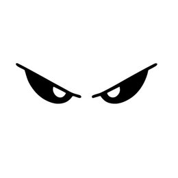 China Motorcycle Helmet Reflective Car Styling Vinyl Decal Sticker Evil Eyes Car Accessories Decor JDM suppliers