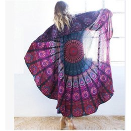 Barato Verão Indiano-New Summer Indian Mandala colcha colcha Shawl Wall Suspensão Bohemian Ethnic Throw Beauty Wall Decor Toalha de praia Big Bed Cover Yoga Mat
