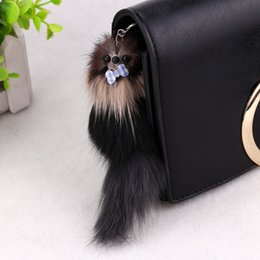 "$enCountryForm.capitalKeyWord NZ - Lovely 3D Mouse Squirrel Charm Pom Pom Car Keychain 7.87""*1.97"" Handbag Key Ring Christmas Gift FBA Drop Shipping C97Q"