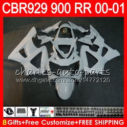$enCountryForm.capitalKeyWord Australia - Body For HONDA CBR 929RR CBR900RR CBR929RR 00 01 CBR 900RR 67NO12 gloss white CBR929 RR CBR900 RR CBR 929 RR 2000 2001 Fairing kit 8Gifts