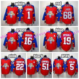 florida panthers 68 jaromir jagr ice hockey jerseys 1 roberto luongo 16 aleksander barkov 5 aaron ekblad team color red stitching quality jaromir jagr