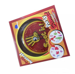 China Spot It Card Game Board Game for Children Magic Fun with Family Gathering the Animals Paper Quality Card Metal Box suppliers