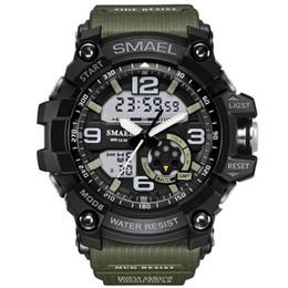 Men S Sport Clock Canada - New SMAEL Brand Watch Men Wateproof S Shock Sport Watch LED Digital Clock Men's Wristwatch Male Clock Military Watch Army WS1617