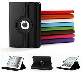 Ipad Tablet Stands NZ - 360 Rotation PU Leather Case for Apple iPad 2 3 4 Smart Tablet cover with stand function flip cases
