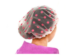 $enCountryForm.capitalKeyWord UK - Waterproof Shower Cap Elastic Band Hat Bath Cap Cute Cartoon Spa Hair Salon Shower Hats Bathroom Accessories touca de banho