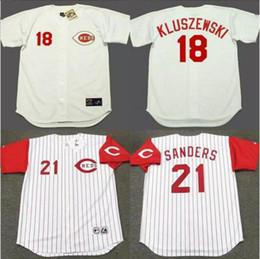 b975f92c2 ... 2017 Mens Cincinnati Reds 17 CHRIS SABO 18 BENITO SANTIAGO 21 DEION  SANDERS Throwback Baseball Home ...
