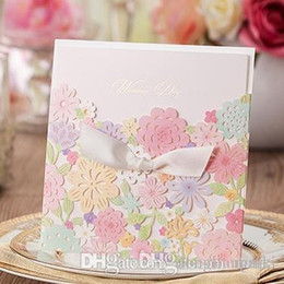50pcs 2015 Wedding Invitations Fold Flowers Hollow Creative Wedding  Invitation Cards Wedding Decoration Party Invitations BEST PRICE CW5031  Wedding ...