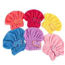 China Hair Towel Home Textile Microfiber Solid Hair Turban Quickly Dry Hair Hat Wrapped Towel 6 Colors Available Superfine Fiber Fabrics Towel Hai cheap hooded hair drier suppliers