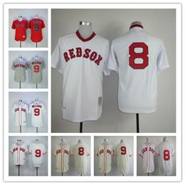 4c7b02d4682 ... Boston Red Sox 1939 Ted Williams Throwback Jersey Cream Gray White  Stitched 8 Carl Yastrzemski Baseball Mens ...