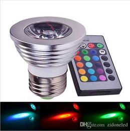$enCountryForm.capitalKeyWord NZ - RGB LED Lamp E27 4W LED Bulb RGB Soptlight 85-265V Energy Saving 16 Color Change LED Spot Light High Quality With IR Remote