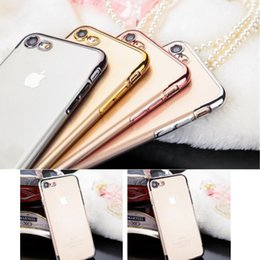 $enCountryForm.capitalKeyWord NZ - Ultra Thin Clear Crystal Plating Electroplating Limpid Cell Phone Back Case TPU Soft Mobile Phone Cover Skin For Iphone 6 6s 7 Plus 5 5s