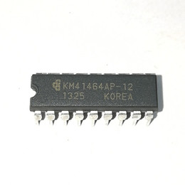 Chinese  KM41464AP-12 . KM41464AP-15 , KM41464AP , dual in-line 18 pin dip plastic package Integrated circuits . Electronic Components   PDIP18 . ICs manufacturers