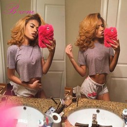 """$enCountryForm.capitalKeyWord NZ - 7A Peruvian Top Grade Pure Color #27 Honey Blonde Hair Lace Closure Body Wave 4""""x4"""" Free Part Hair Closure bleached knots with baby hair"""