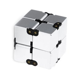 black blocks 2019 - Infinity Cube Fidget Blocks Kids Adult Stress Relief Decompression Toys Small Gifts Creative Dice Mix Color cheap black