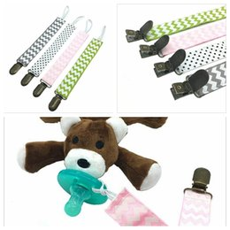 Barato Grampos Da Corrente Do Mamilo-Pacifier Holder Zigzag Pacifier Clips Chevron Pacifier Soother Nipple Leash Strap Baby Funny Nipple Teethers Cadeia Resistente à gota Bel YYA420