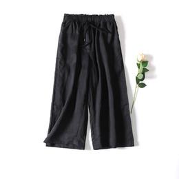 Wide Leg Black Linen Pants Online | Wide Leg Black Linen Pants for ...