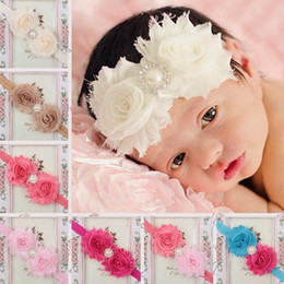$enCountryForm.capitalKeyWord Australia - High quality Selling children hair with two worn burnt flowers with pearl drill baby headdress TG125 mix order 30 pieces a lot