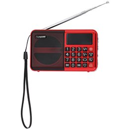 Internet Radio Speakers NZ - Wholesale-2016 Original Speaker LONGRUNER L - 63 FM Radio Speaker MP3 Player TF Card Media Playing with LED Screen