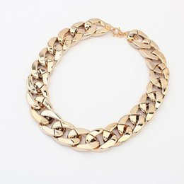 $enCountryForm.capitalKeyWord Canada - Gold Silver Gunblack Plated Thick CCB Chain Statement Choker Necklace for Women Party Gift Fashion Jewelry Colar Bijoux