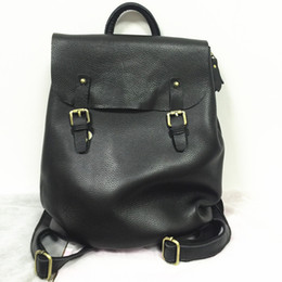 Discount good quality girls school bags - Wholesale- Good Quality Women Genuine Leather Backpack for School Bags Teenagers Girls College Rucksacks Korean Style Me