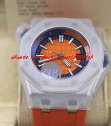 $enCountryForm.capitalKeyWord NZ - Luxury Wristwatch Diver Orange Dial ST.OO.A070CA.01 Rubber Bracelet Mechanical Watch Men Watches Top Quality New Arrival