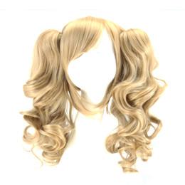 $enCountryForm.capitalKeyWord UK - WoodFestival double ponytail clip wig wavy blonde anime wigs for woman medium length heat resistant synthetic fiber hair