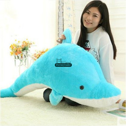 $enCountryForm.capitalKeyWord NZ - Dorimytrader Pop Lovely Huge 120cm Soft Animal Dolphin Plush Toy Pillow 47inches Big Stuffed Cartoon Sea Animals Doll Kids and Adults Gift