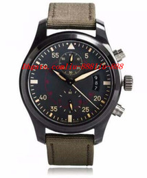 CeramiC Chronograph men watCh online shopping - Luxury Watches mm Pilots Anthracite Dial Chronograph Ceramic IW3880 Men Men s watch MAN WATCH Wristwatch