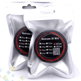 Discount nichrome wire 24 gauge - New Package Nichrome 80 Wire 30 Feet AWG 22 24 26 28 30 32 Gauge for DIY Rebuildable RDA RBA Atomizer DHL Free