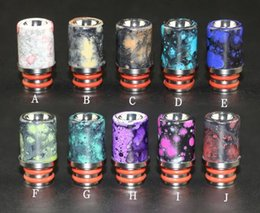 wide bore drip tip delrin NZ - Newest splash Drip Tips For E Cigs Resin Delrin Drip Tips 510 Mouthpiece For EGO Atomizers Mini Subox Nano Nautilus Wide Bore