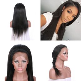 lace front wig human hair 28 Australia - Brazilian Hair Natural Straight 130% Density Lace Front Wig Pre Plucked 100% Human Hair Lace Wigs FDSHINE HAIR