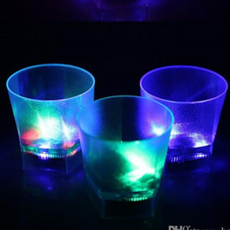 Light suspensions gLass online shopping - Creative Clear Mug Water Induction Frosted Moonlight Luminous Cup LED Light Flash Beer Cups Glowing In The Dark jc R