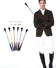 26 дюймов езда урожай всадник хлысты школа лошадь хлыст с петлей металлическим покрытием ручка черный флоггер конные инструменты M963