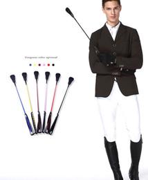 26 pouces Riding Crop Rider fouets cheval d'école Horsewhip avec boucle en métal plaqué poignée noire Flogger Equestrian Tools M963